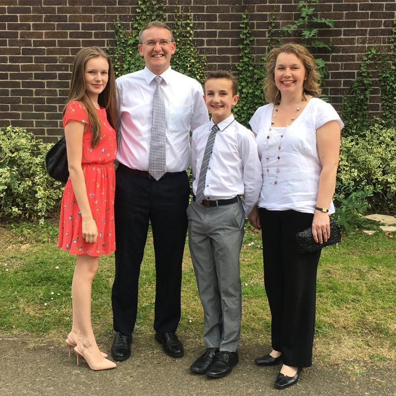 John and family